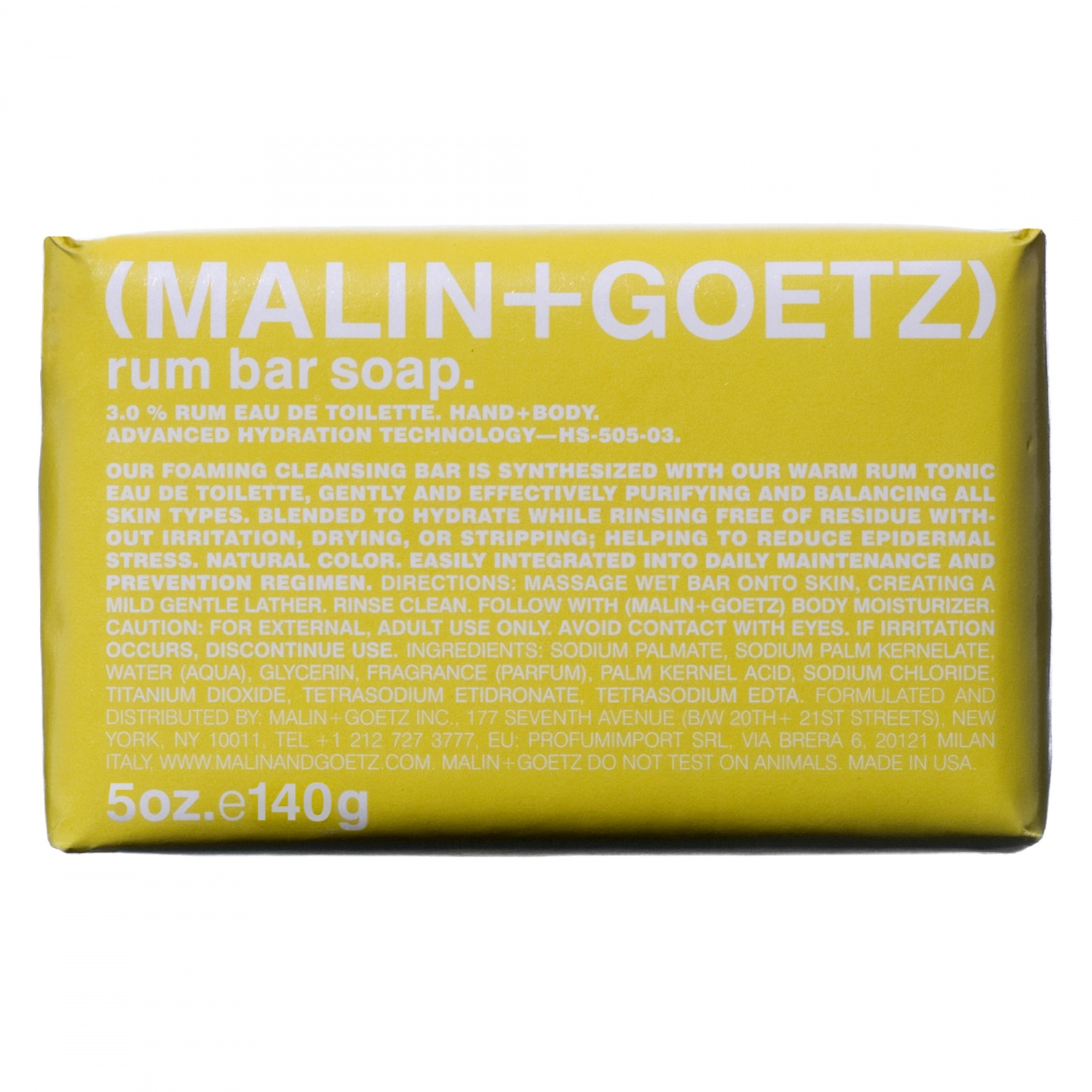 MALIN+GOETZ rum bar soap 140gr.