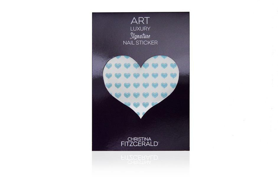 Christina Fitzgerald Art Luxury Signature Nail Sticker Blue Heart (Pack of 96)