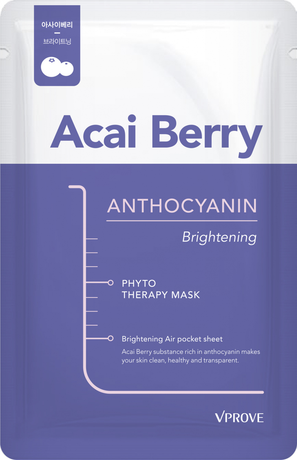 Vprove Phyto Therapy Mask Sheet Anthocyanin Brightening 20gr