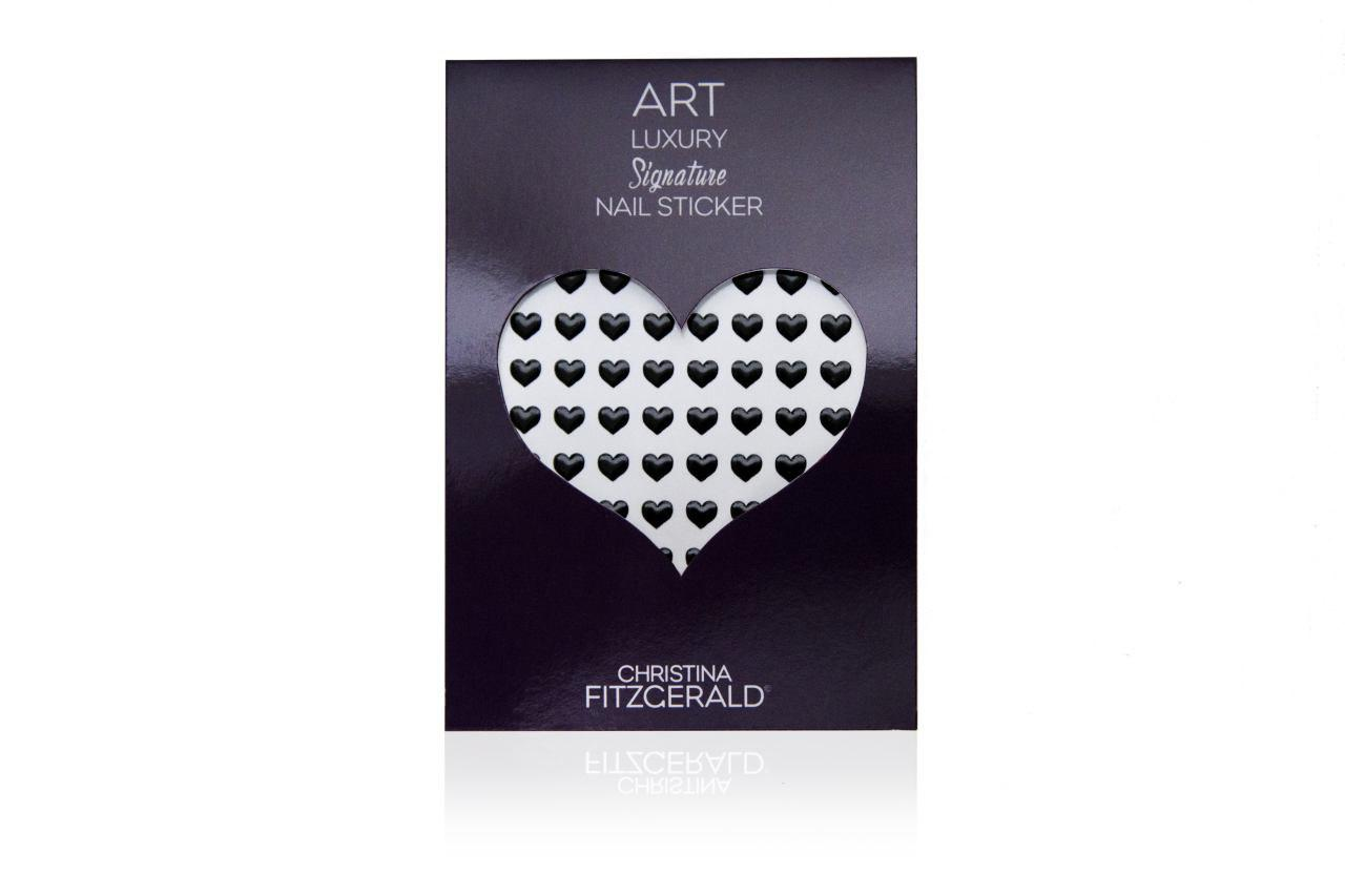 Christina Fitzgerald Art Luxury Signature Nail Sticker Black Heart (Pack of 96)