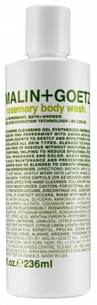 MALIN+GOETZ rosemary body wash 236 ml.