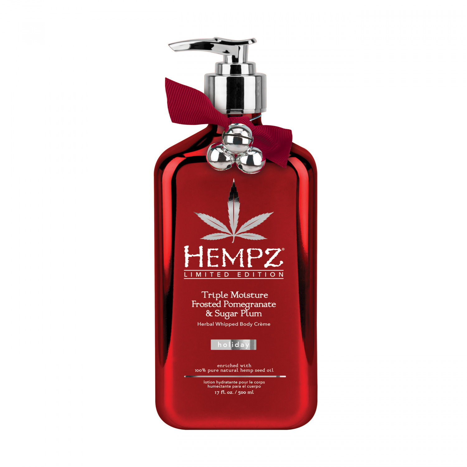 Hempz Herbal Whipped Body Creme Triple Moisture: Frosted Pomegranate and Sugar Plum 500ml.