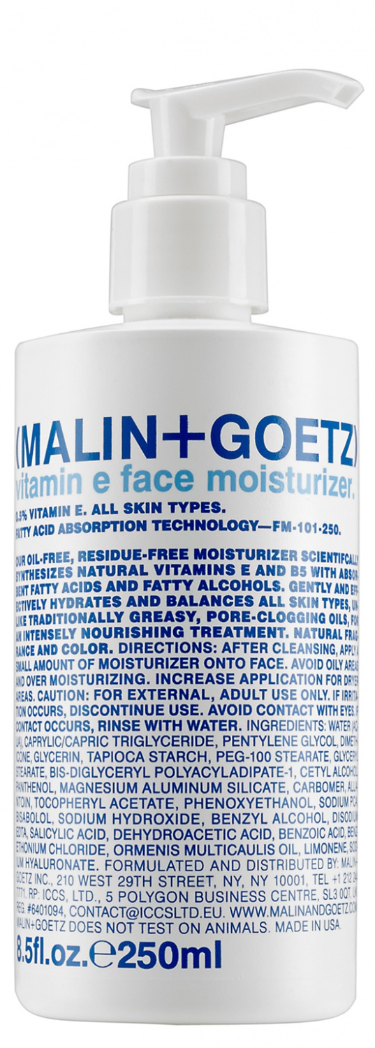 MALIN+GOETZ vitamin e face moisturizer 250 ml.