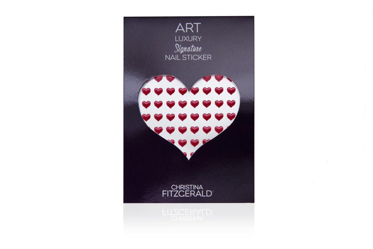 Christina Fitzgerald Art Luxury Signature Nail Sticker Red Heart (Pack of 96)