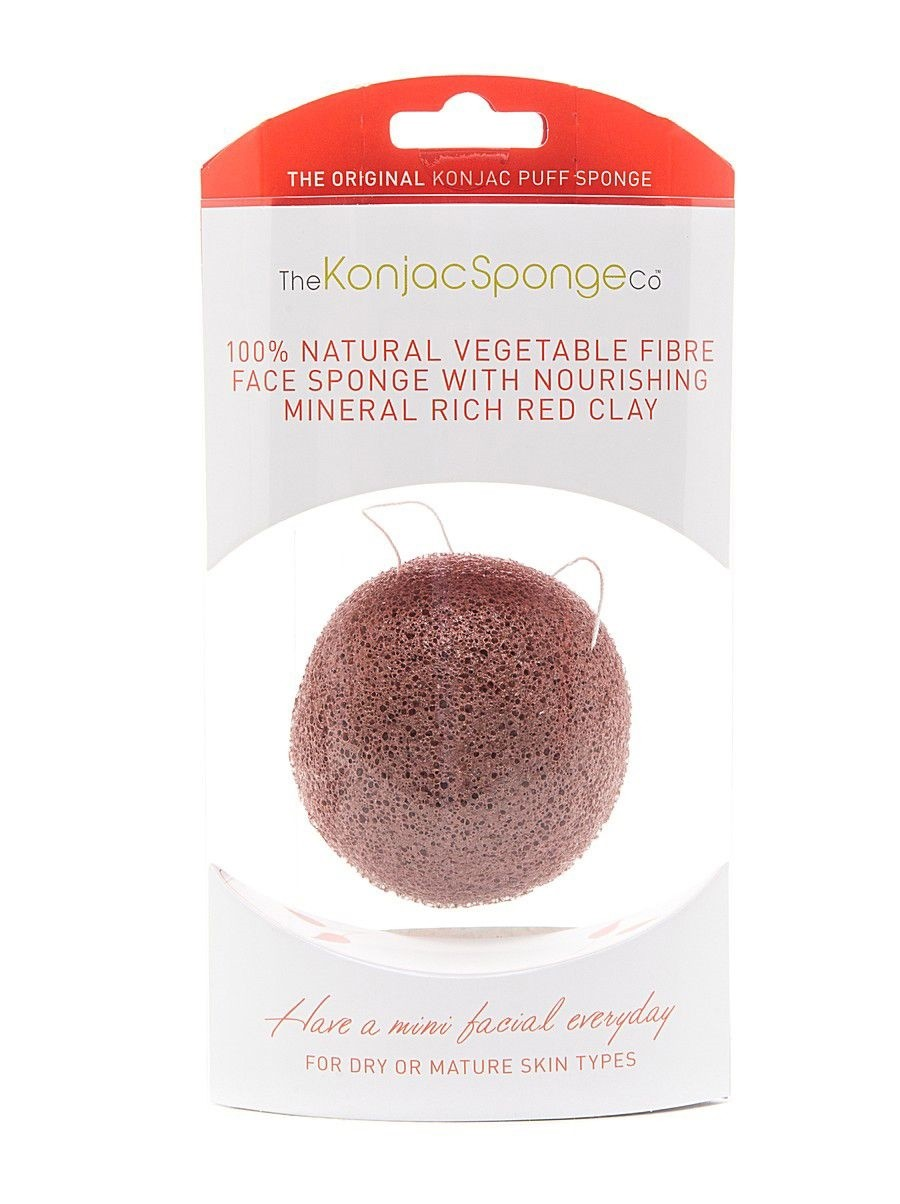 The Konjac Sponge Premium Facial Puff with French Red Clay