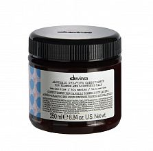Davines Alchemic creative conditioner for blond and lightened hair Marine blue 250ml - интернет-магазин профессиональной косметики Spadream, изображение 33798